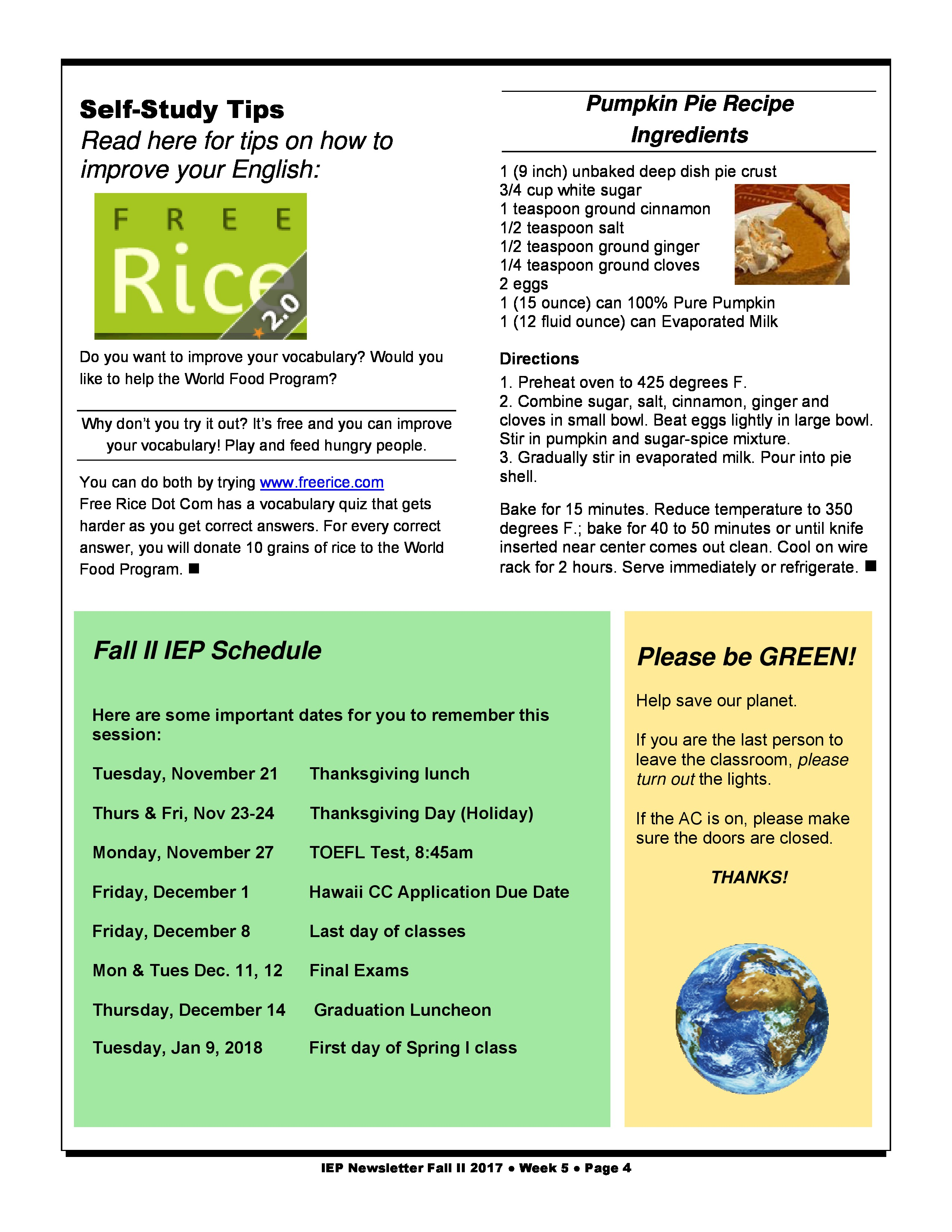 the importance of the schedule of the intensive english program iep classes