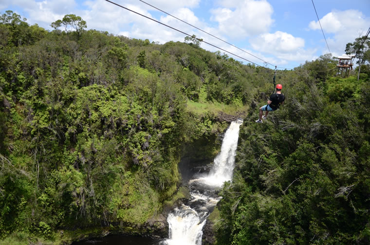 Zip lining in Hilo!