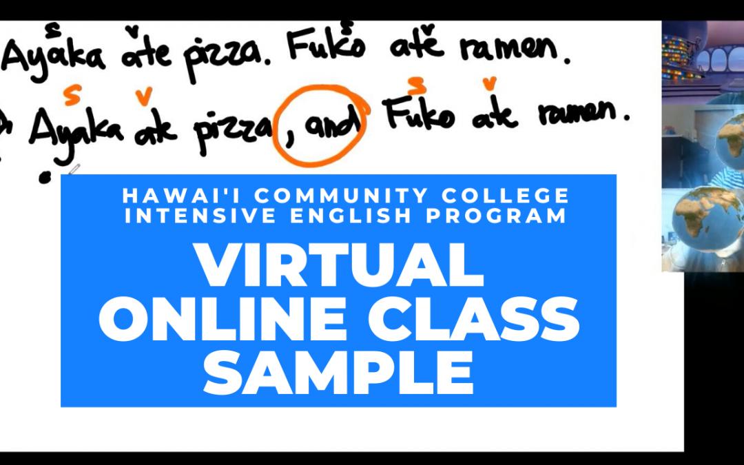 IEP Virtual Online Class Sample