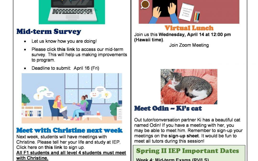 Spring II 2021 Newsletter Week 4